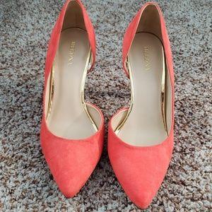 Merona salmon  pink heels